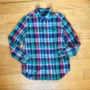 Like new! Ralph Lauren 14/16 Plaid Button Down
